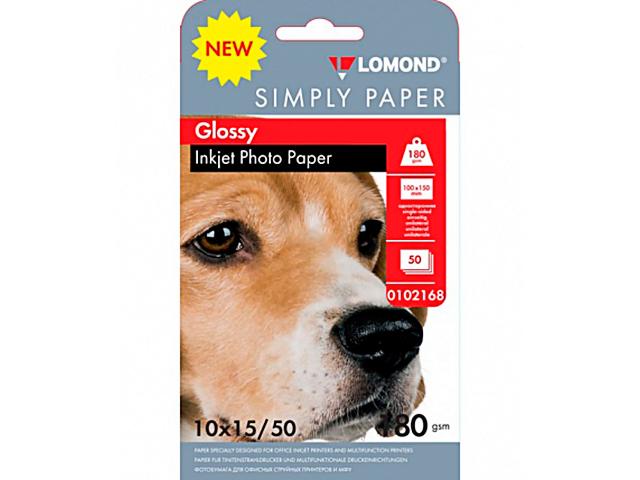 Фотобумага Lomond Simply 180g/m2 10x15cm глянцевая 50 листов 102168