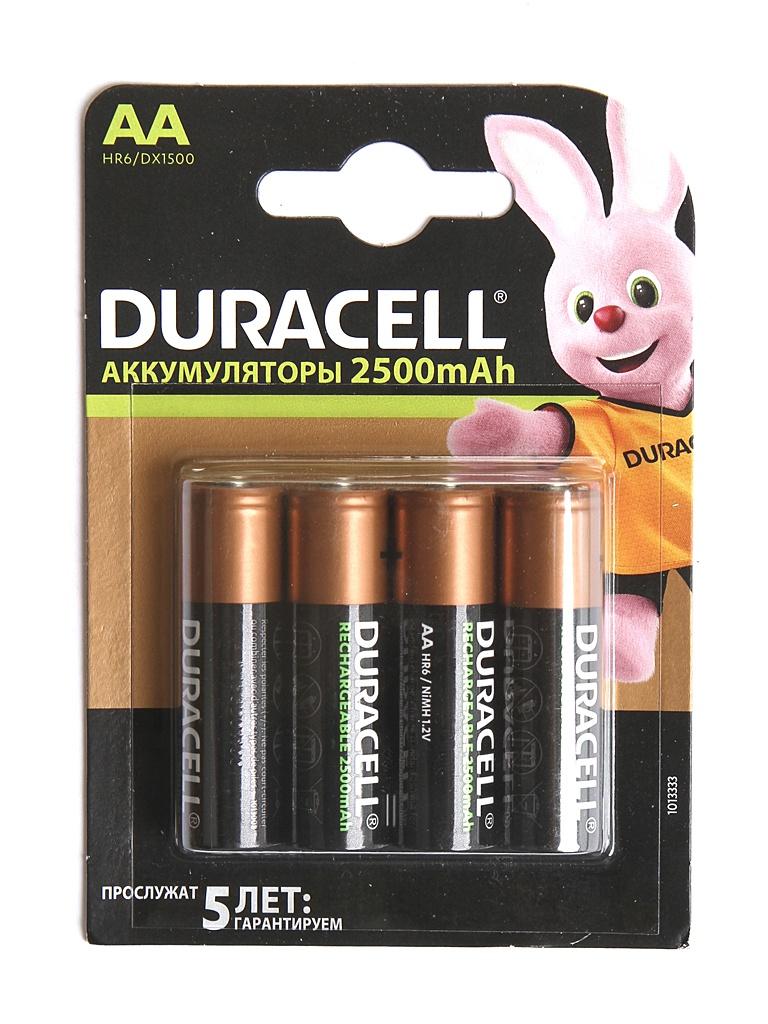 Аккумулятор AA - Duracell DR AA2500/4BL (4 штуки)