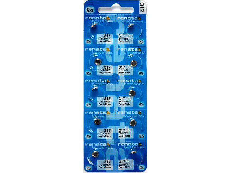 Батарейка R317 - Renata SR516SW/10BL (10 штук)