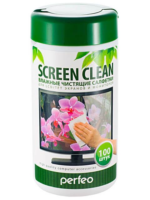 Чистящие салфетки Perfeo Screen Clean для LCD/TFT экранов и мониторов 100шт PF-T/SC-100