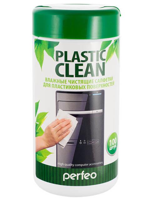 Чистящие салфетки Perfeo Plastic Clean для пластиковых поверхностей 100шт PF-T/PC-100