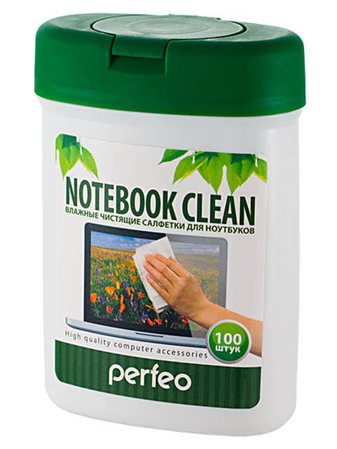 Чистящие салфетки Perfeo Notebook Clean для ноутбука, в малой тубе 100шт PF-T/NBmini-100
