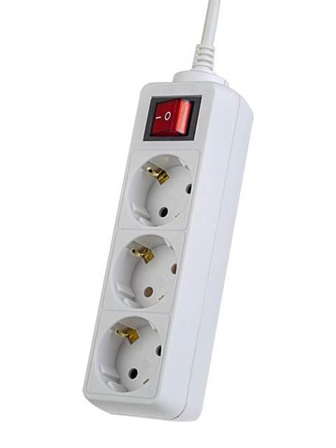 Сетевой фильтр Perfeo Powermate 3 Sockets 3m White PF-PM-3/3,0-W / PF_A4679