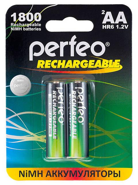 Аккумулятор AA - Perfeo 1800mAh PF AA1800/2BL (2 штуки)