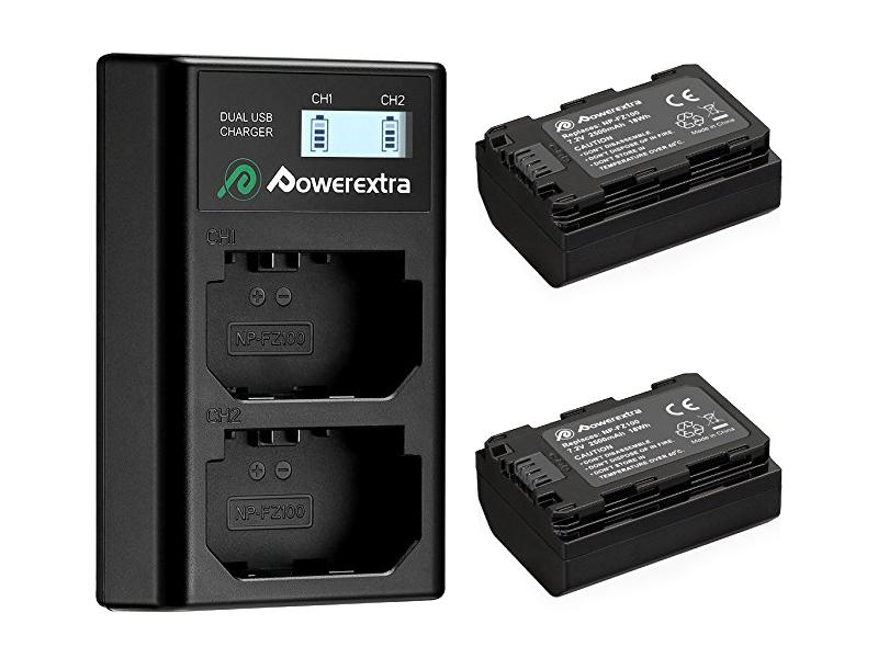 Зарядное устройство Powerextra NP-FZ100 +2 аккумулятора 21275