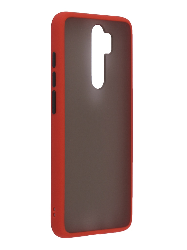 Чехол Brosco для Xiaomi Redmi Note 8 Pro Red-Black XM-RN8P-ST-TPU-RED-BLACK