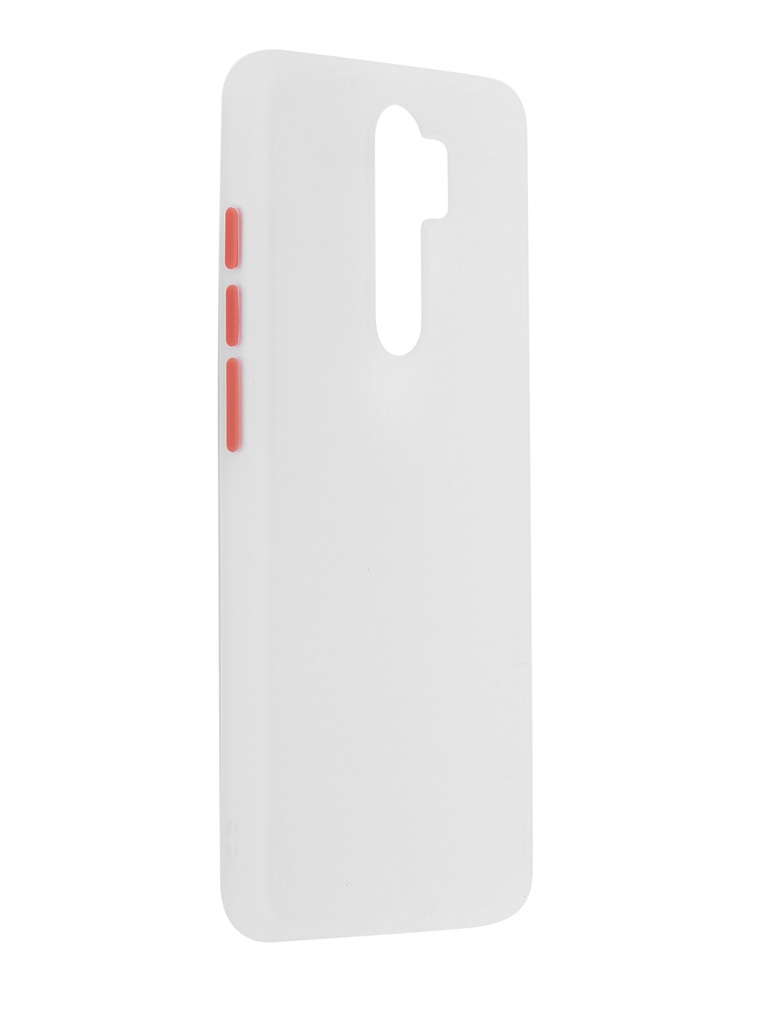 Чехол Brosco для Xiaomi Redmi Note 8 Pro White-Red XM-RN8P-ST-TPU-WHITE-RED
