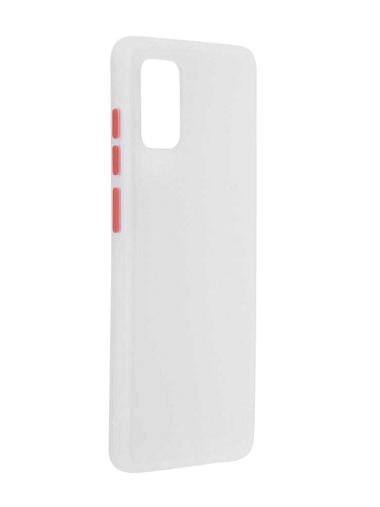 Чехол Brosco для Samsung Galaxy A71 White-Red SS-A71-ST-TPU-WHITE-RED
