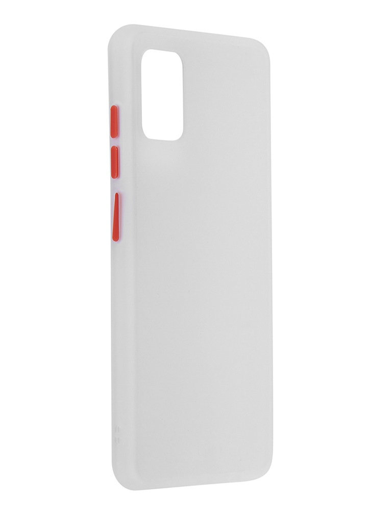 Чехол Brosco для Samsung Galaxy A51 White-Red SS-A51-ST-TPU-WHITE-RED