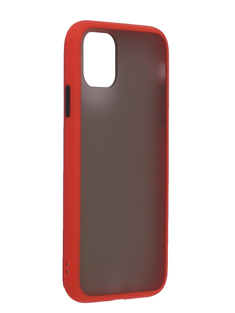 Чехол Brosco для APPLE iPhone 11 Red-Black IP11-ST-TPU-RED-BLACK