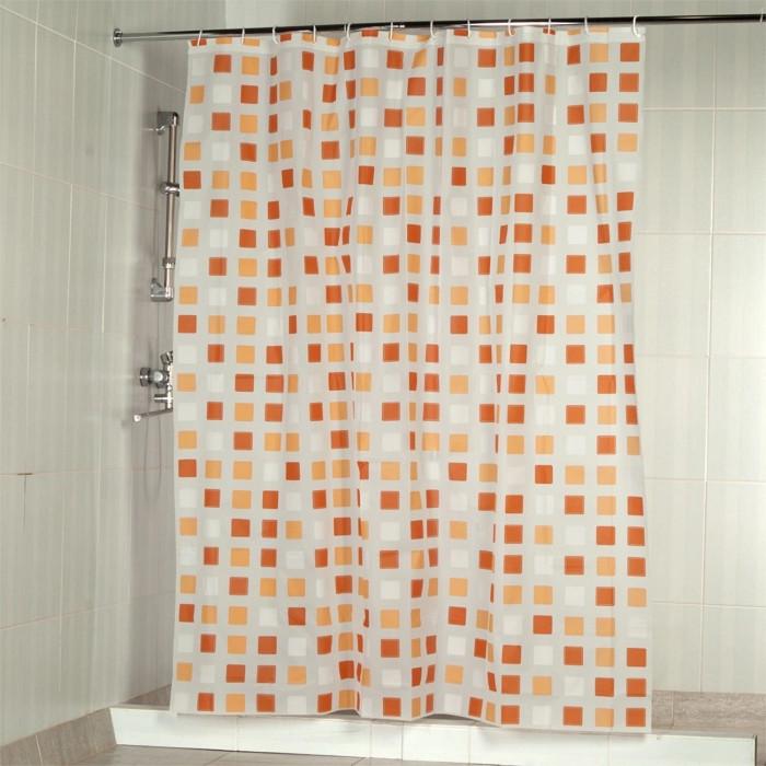 Шторка Занавеска в душ Aquarius Квадраты Orange 51352