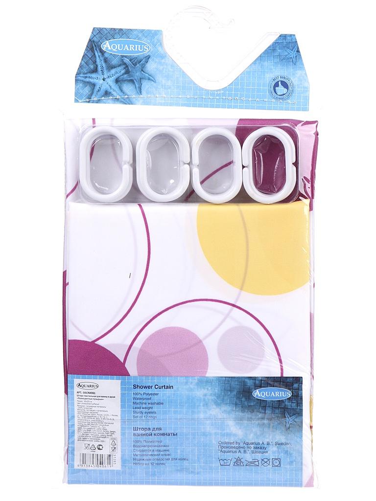 Шторка Aquarius Разноцветные пузырьки 180x200cm 51283