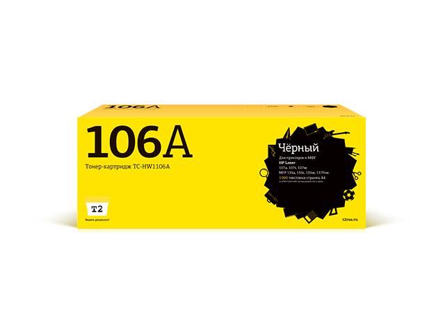 Картридж T2 (схожий с HP 106A W1106A) Black для Laser 107a/107r/107w/MFP 135a/135r/135w/137fnw чипом TC-HW1106A