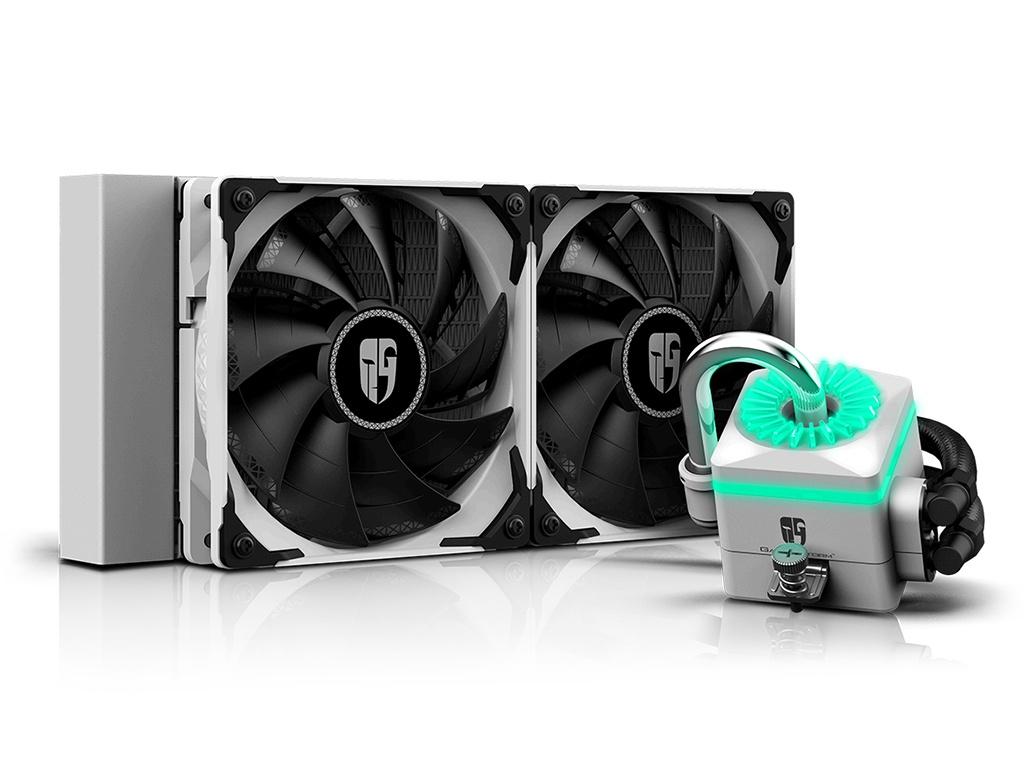 Водяное охлаждение DeepCool Captain 240X White (Intel LGA2066/2011-v3/2011/LGA1200/1151/1150/1155/1366// AMD TR4/AM4/AM3+/AM3/AM2+/AM2/FM2+/FM2/FM1)