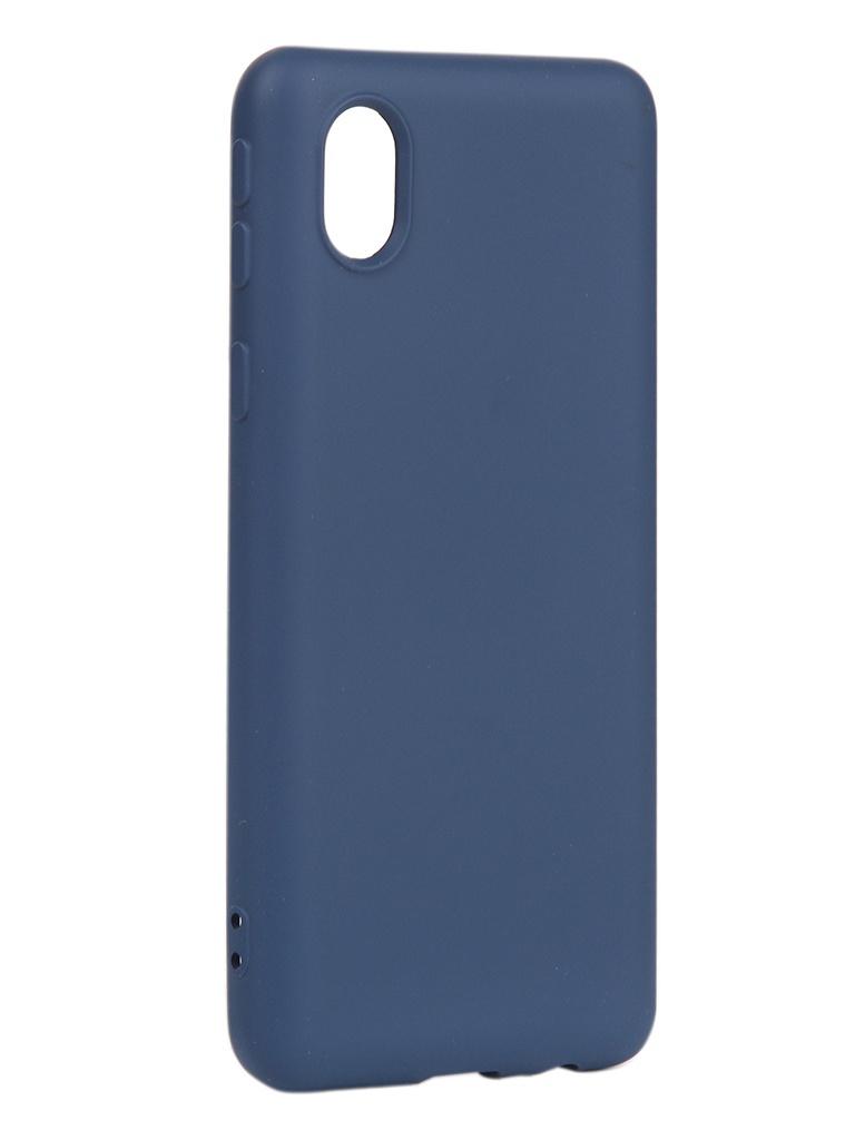 Чехол DF для Samsung Galaxy A01 Core Silicone Blue sOriginal-18