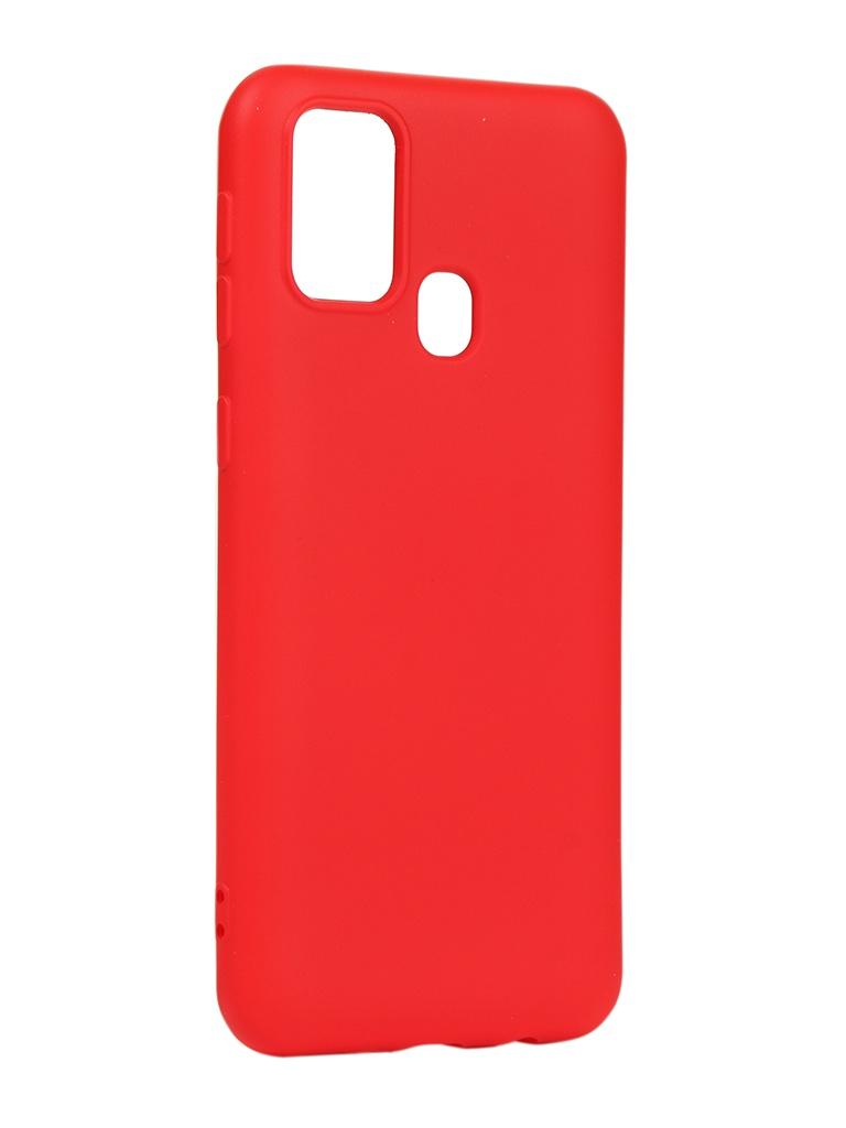 Чехол DF для Samsung Galaxy M31 Silicone Red sOriginal-17