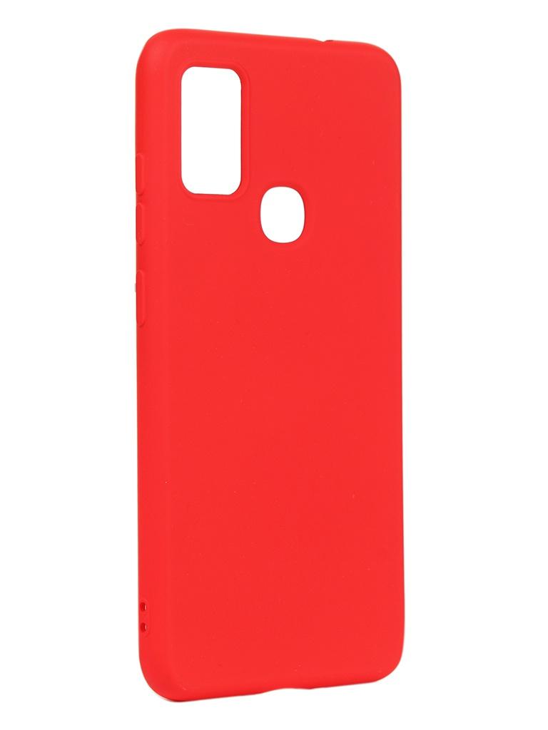 Чехол DF для Samsung Galaxy M51 Silicone Red sOriginal-16