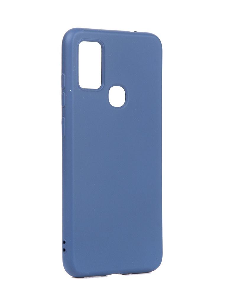 Чехол DF для Samsung Galaxy M51 Silicone Blue sOriginal-16