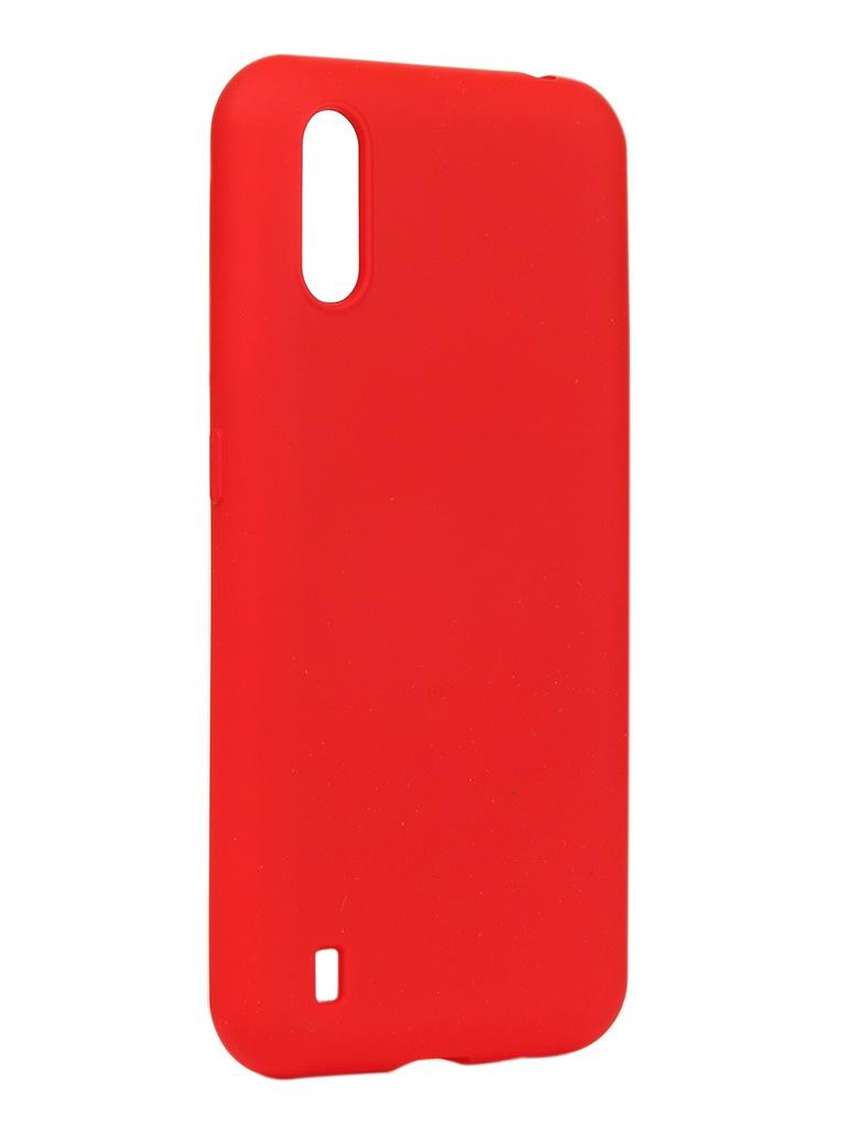 Чехол DF для Samsung Galaxy M01 Silicone Red sOriginal-15
