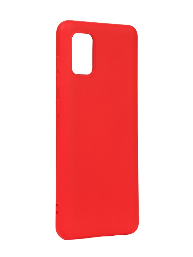 Чехол DF для Samsung Galaxy A31 Silicone Red sOriginal-13