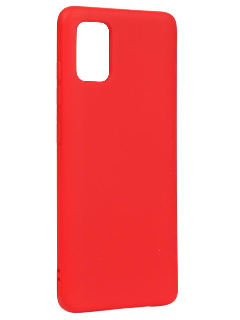 Чехол DF для Samsung Galaxy A51 Silicone Red sOriginal-06