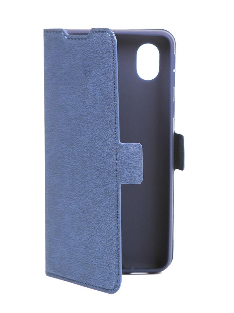 Чехол DF для Samsung Galaxy A01 Core Blue sFlip-72