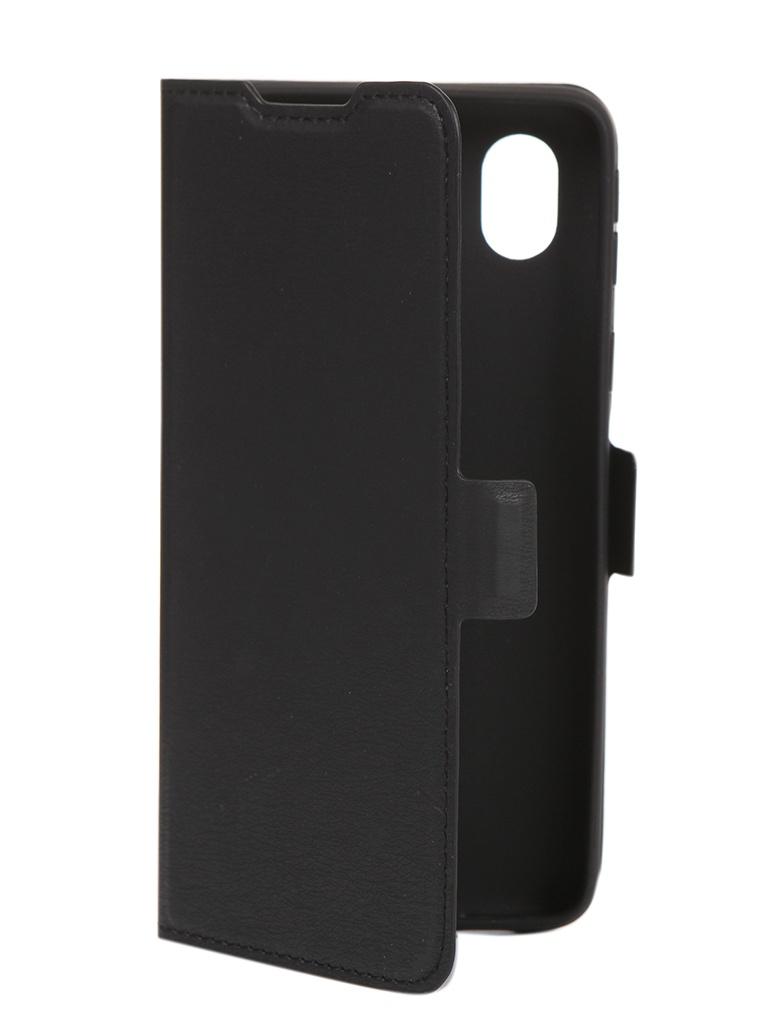 Чехол DF для Samsung Galaxy A01 Core Black sFlip-72 недорого