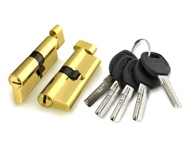 Цилиндровый механизм с вертушкой Punto A202 60mm (25+10+25) PB Brass