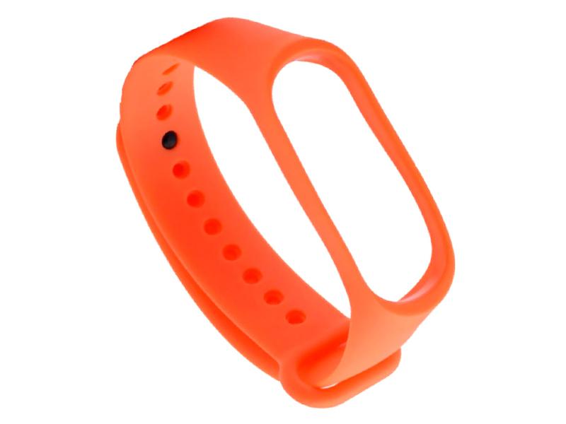 Aксессуар Ремешок DF для Xiaomi Mi Band 3/4 Silicone Orange xiClassicband-02