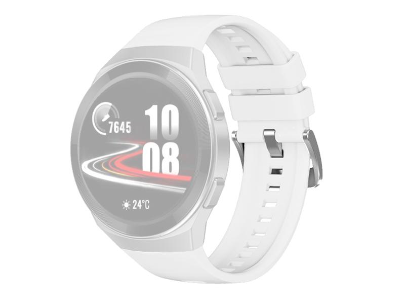Аксессуар Ремешок DF для Huawei Watch GT 2e Hector White hwClassicband-03