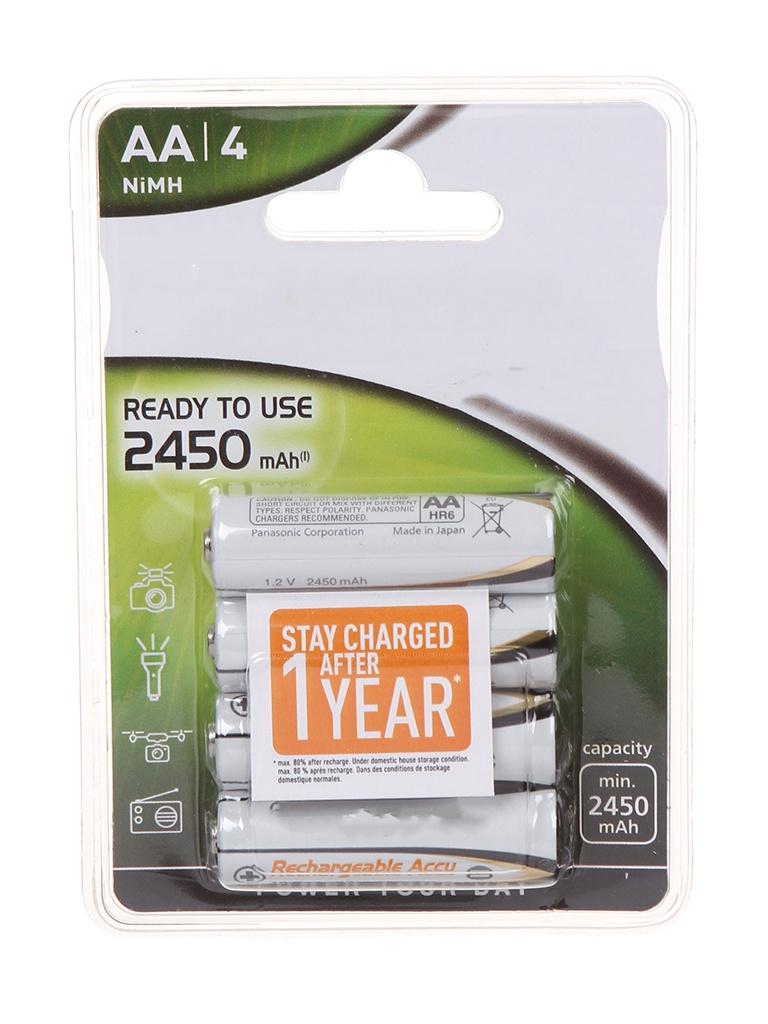 Аккумулятор AA - Panasonic Evolta 2450 mAh Ni-Mh (4 штуки) HHR-3XXE/4В