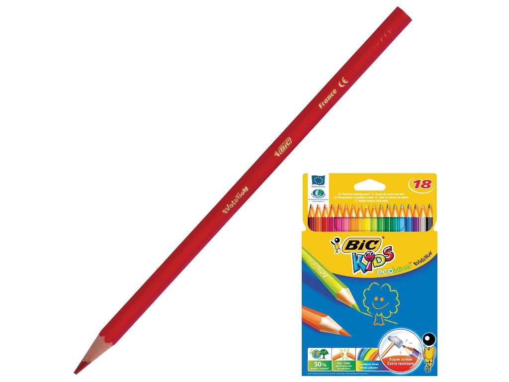 Карандаши цветные Bic Kids Ecolutions Evolution 18 цветов 937513