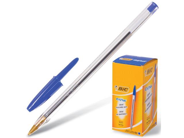 Ручка шариковая Bic Cristal 1mm корпус Transparent, стержень Blue 847898