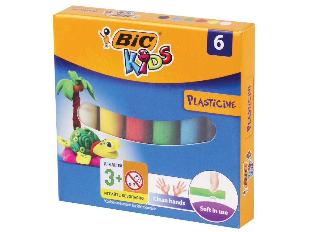 Набор для лепки Bic Пластилин Kids 6 цветов 60g 947712