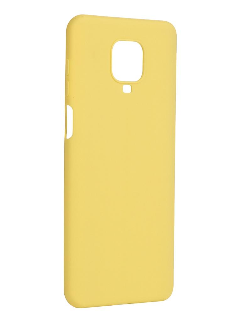 Чехол Pero для Xiaomi Redmi Note 9 Pro / Note 9S Yellow CC01-RN9PY чехол pero для xiaomi redmi note 8 pro soft touch blue cc01 rn8pbl