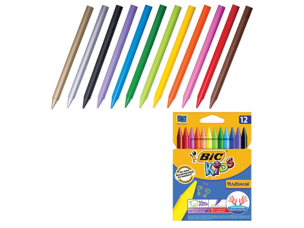 Мелки пластиковые Bic Plastidecor 12 цветов 945764