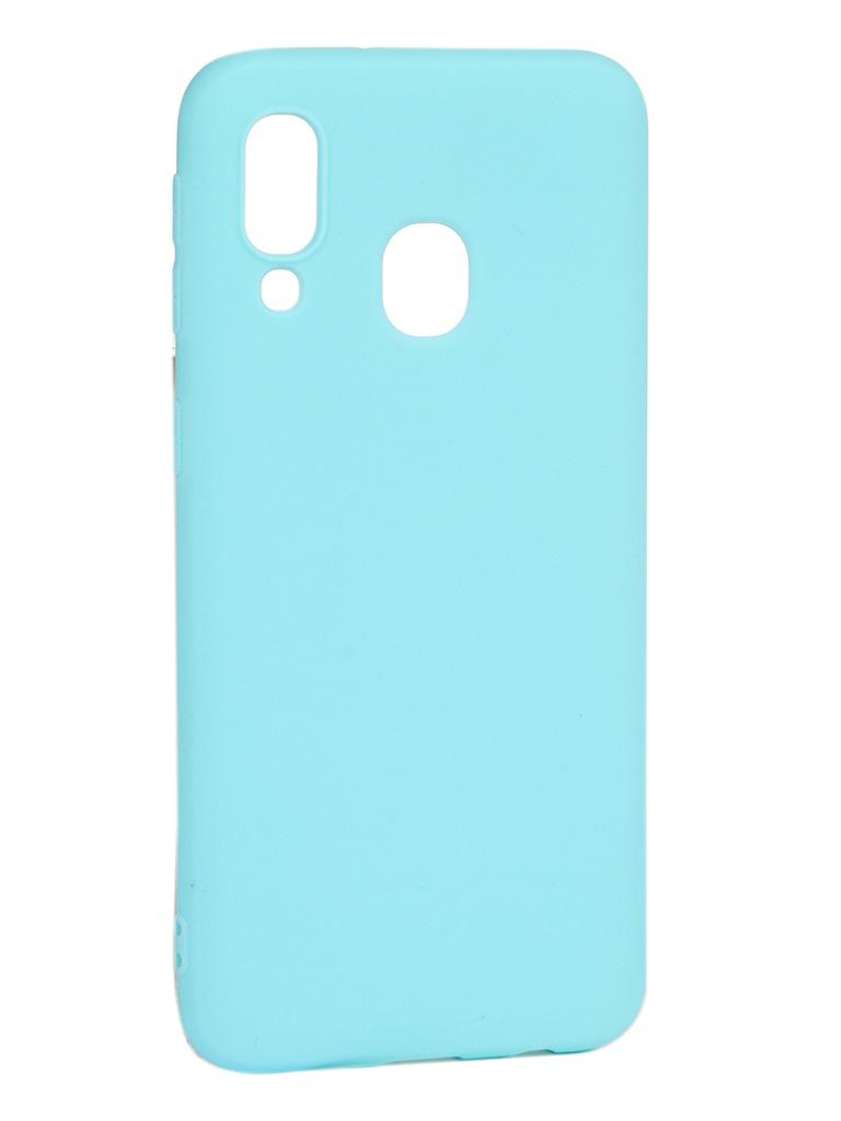 Чехол Pero для Samsung Galaxy A40 Soft Touch Turquoise CC01-A40C