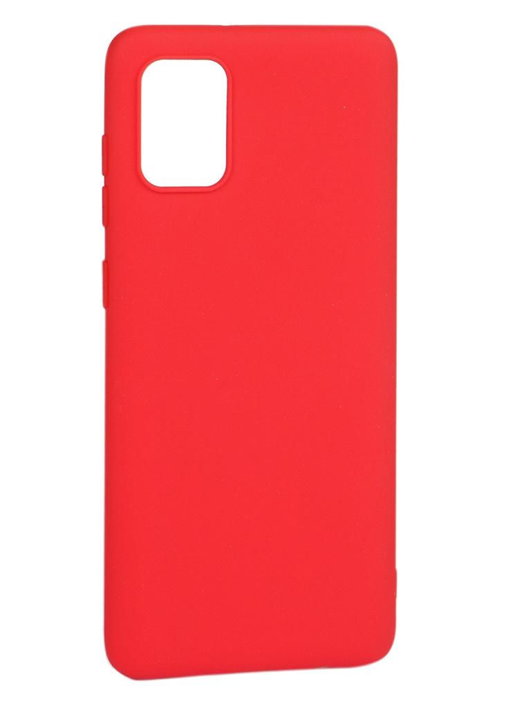 Чехол Pero для Samsung Galaxy A31 Soft Touch Red CC01-A31R