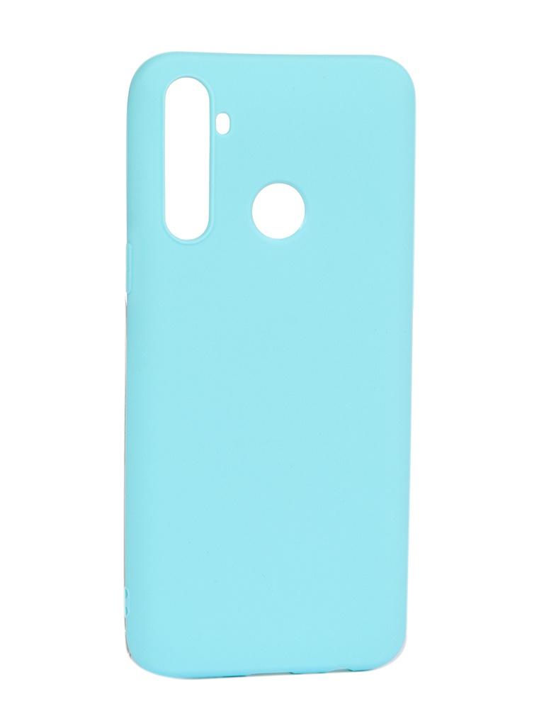 Чехол Pero для Realme C3 Soft Touch Turquoise CC01-RC3C