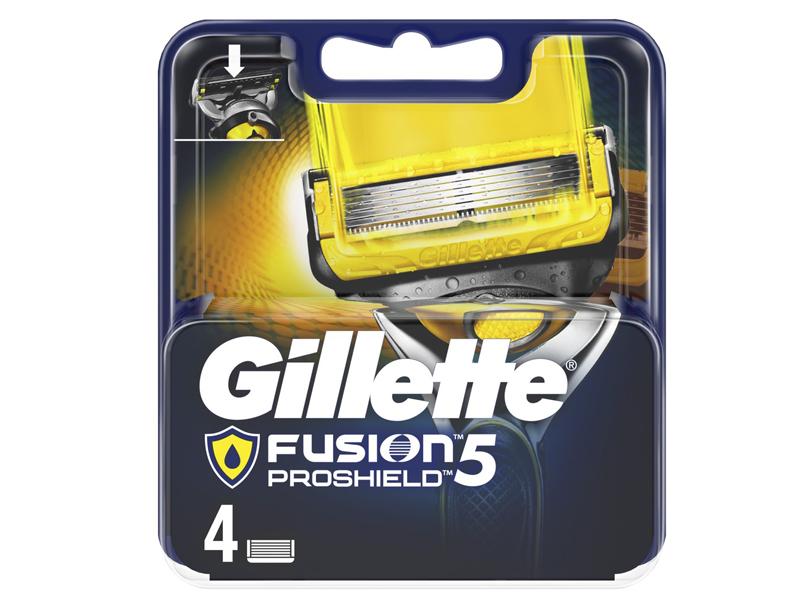Сменные кассеты Gillette Fusion5 ProShield 4шт 7702018412488