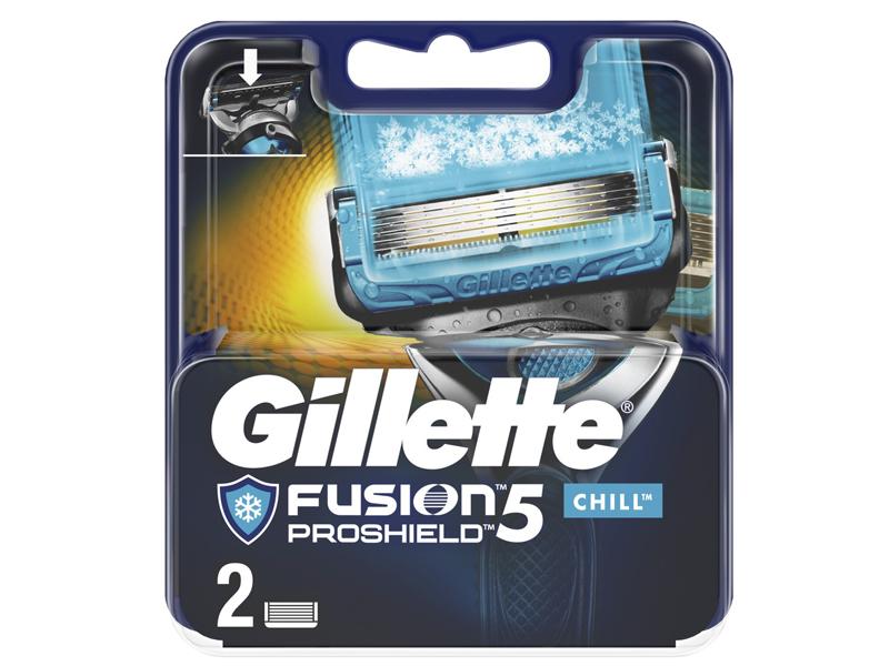 Сменные кассеты Gillette Fusion5 ProShield Chill 2шт 7702018412334
