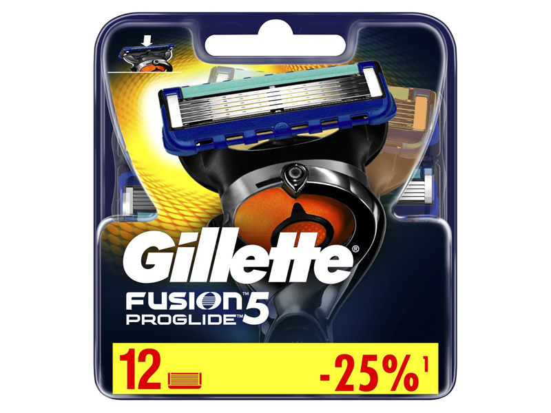 Сменные кассеты Gillette Fusion5 ProGlide 12шт 7702018085934