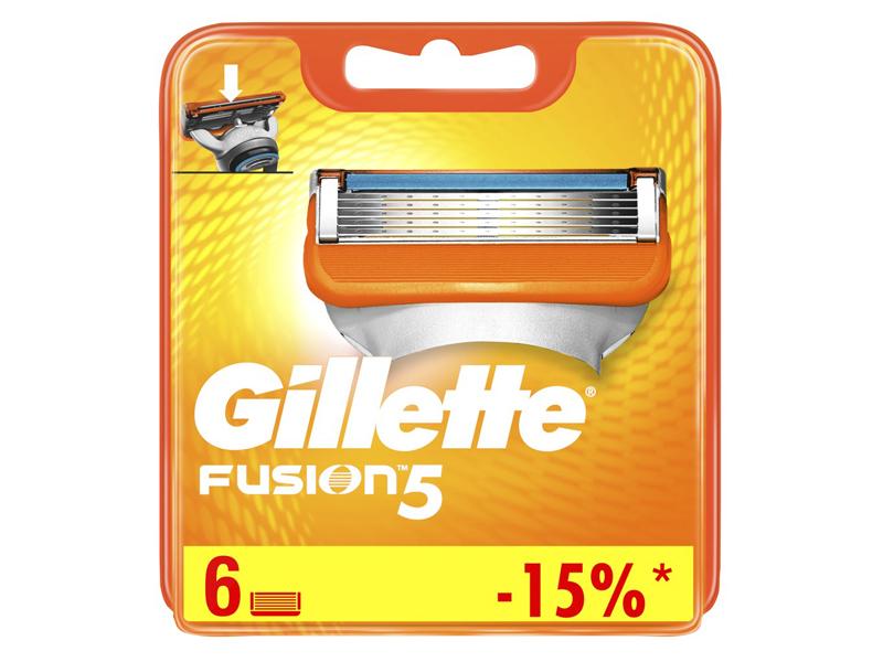 Сменные кассеты Gillette Fusion5 6шт 7702018918102