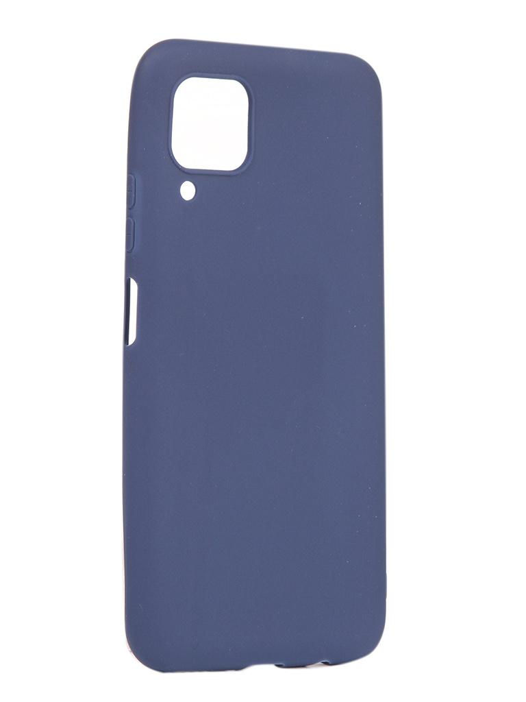 Чехол Pero для Huawei P40 Lite Silicone Clip Case Soft Touch Blue CC01-P40LBL