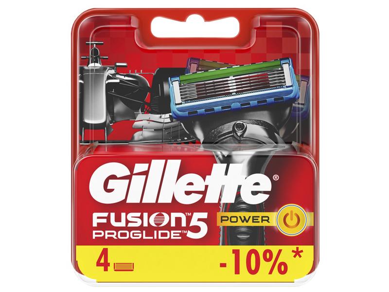 Сменные кассеты Gillette Fusion5 ProGlide Power Red 4шт 7702018085576