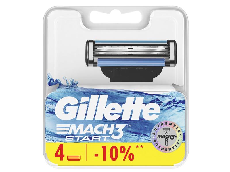 Сменные кассеты Gillette Mach3 Start 4шт 7702018461943