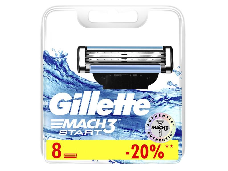 Сменные кассеты Gillette Mach3 Start 8шт 7702018461974