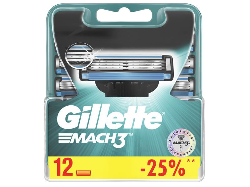 Сменные кассеты Gillette Mach3 12шт 3014260323240