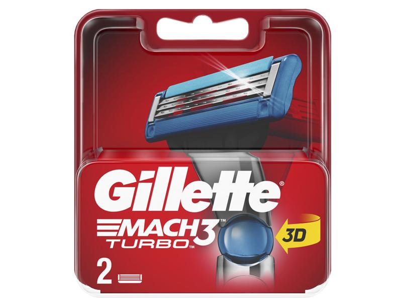 Сменные кассеты Gillette Mach3 Turbo Aloe Red 2шт 3014260275143