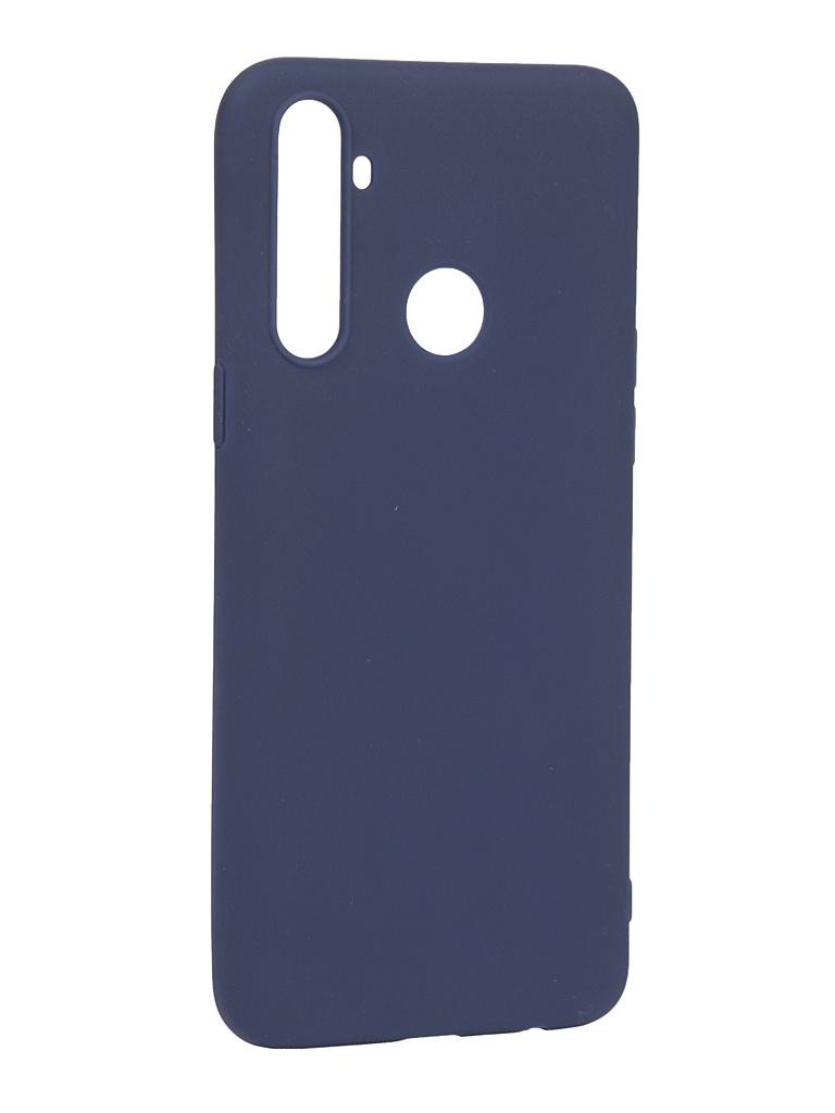 Чехол Pero для Realme 6i Silicone Clip Case Soft Touch Blue CC01-R6iBL